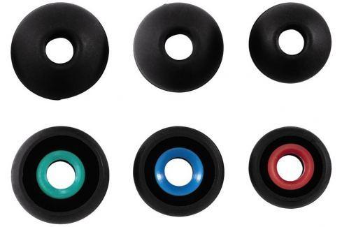 Hama náhradní silikonové špunty, 3 páry, černá náušníky
