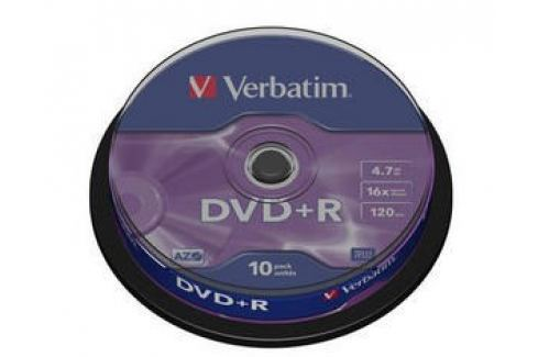 Verbatim DVD+R(10-Pack)Spindle/General Retail/16x/4.7GB DVD média