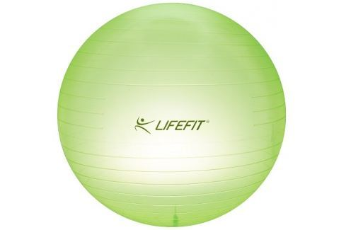 LIFEFIT Gymnastický míč  TRANSPARENT 65 cm, sv. zelený Gymnastické míče