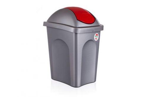 VETRO-PLUS Koš odpadní Multipat 30 L-červené víko Odpadkové koše