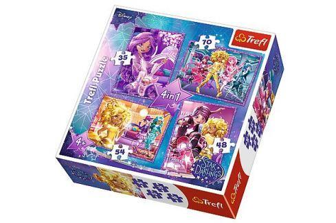 TREFL Puzzle pro děti 4v1 - Star Darlings (35 - 70 dílků) Puzzle