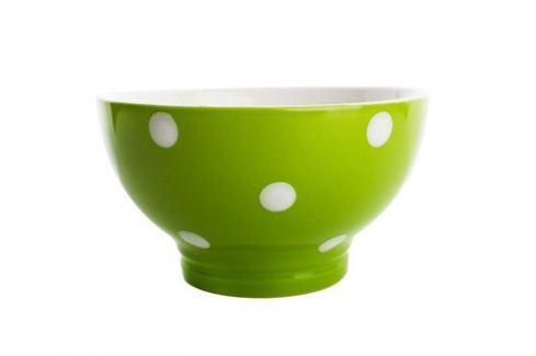 BANQUET Miska keramická 13 cm, zelená s puntíky Produkty