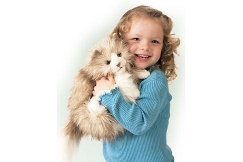 FOLKMANIS PUPPETS Plyšová kočka Fluffy cat, Plyšáci