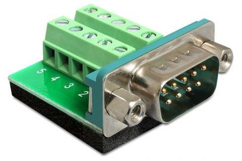 DeLock Adaptér D-Sub 9 samec > svorkovnice 10 pinů Řadiče