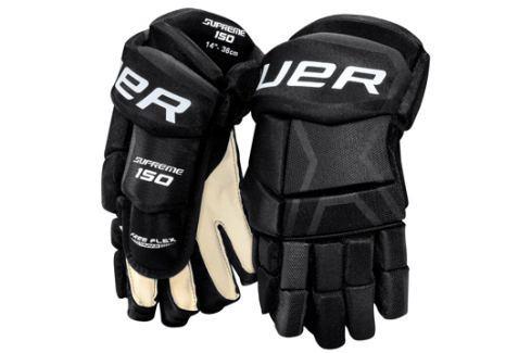 Bauer Rukavice  Supreme 150 junior::11 palců; černo-bílá Hokejové rukavice
