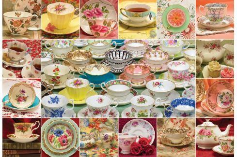 COBBLE HILL Puzzle  50706 Sbírka čajových šálků 2000 dílků Puzzle